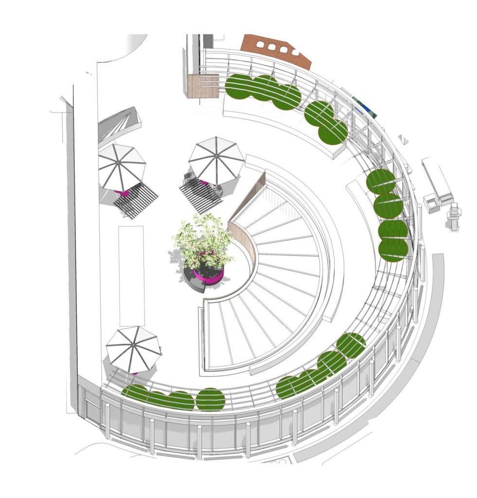 Rotunde Telekom, Zeichnung