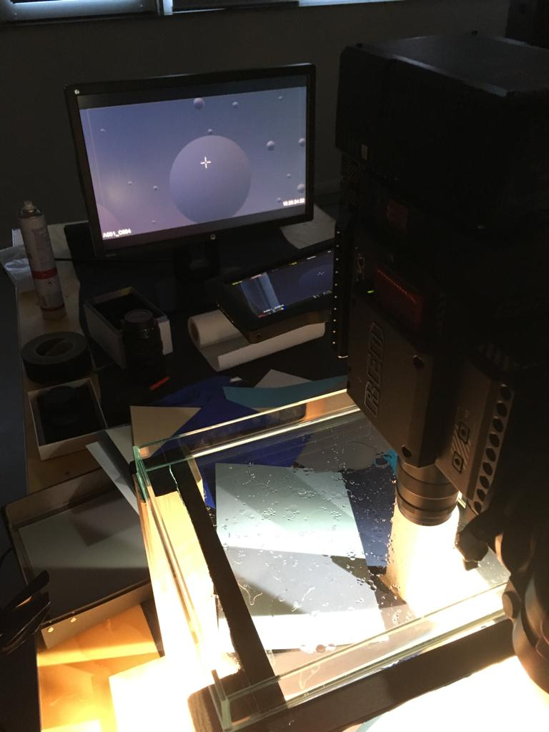 Kameraufbau für Nahaufnahmen Wasser