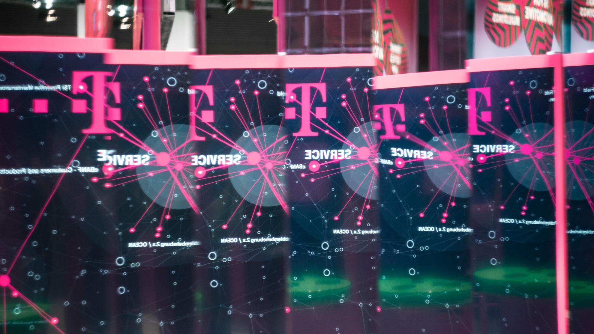 Telekom Grafik spiegeln sich