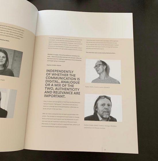 Stephan Müller, Creative Lead bei GROSSE8, im Interview im neuen Eventdesign Jahrbuch