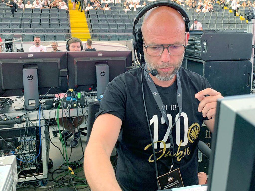 Marco Dietrich beim Vereins-Jubiläum von Eintracht Frankfurt