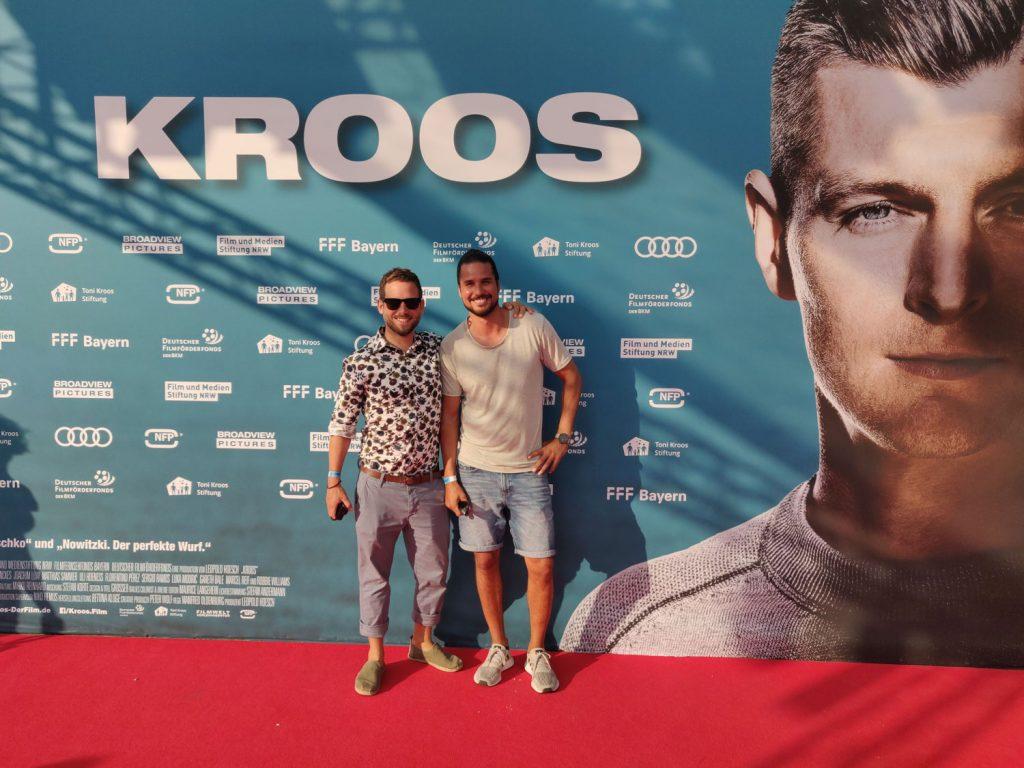 Harald Mönch und Daniel Ossio bei der Premiere zum Toni Kroos Film