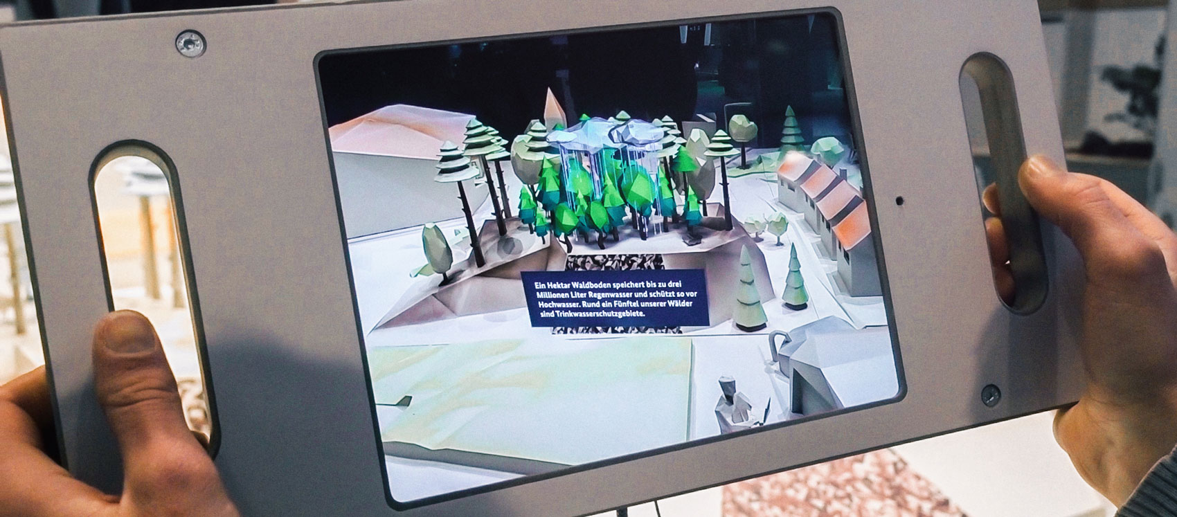 Interaktives Exponat mit AR-Anwendung auf der Internationalen Grünen Woche 2019