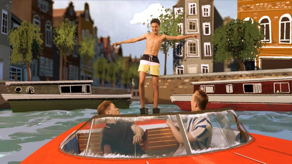 Die ZDF-Jungs-WG in Amsterdam: Gracht und Boot
