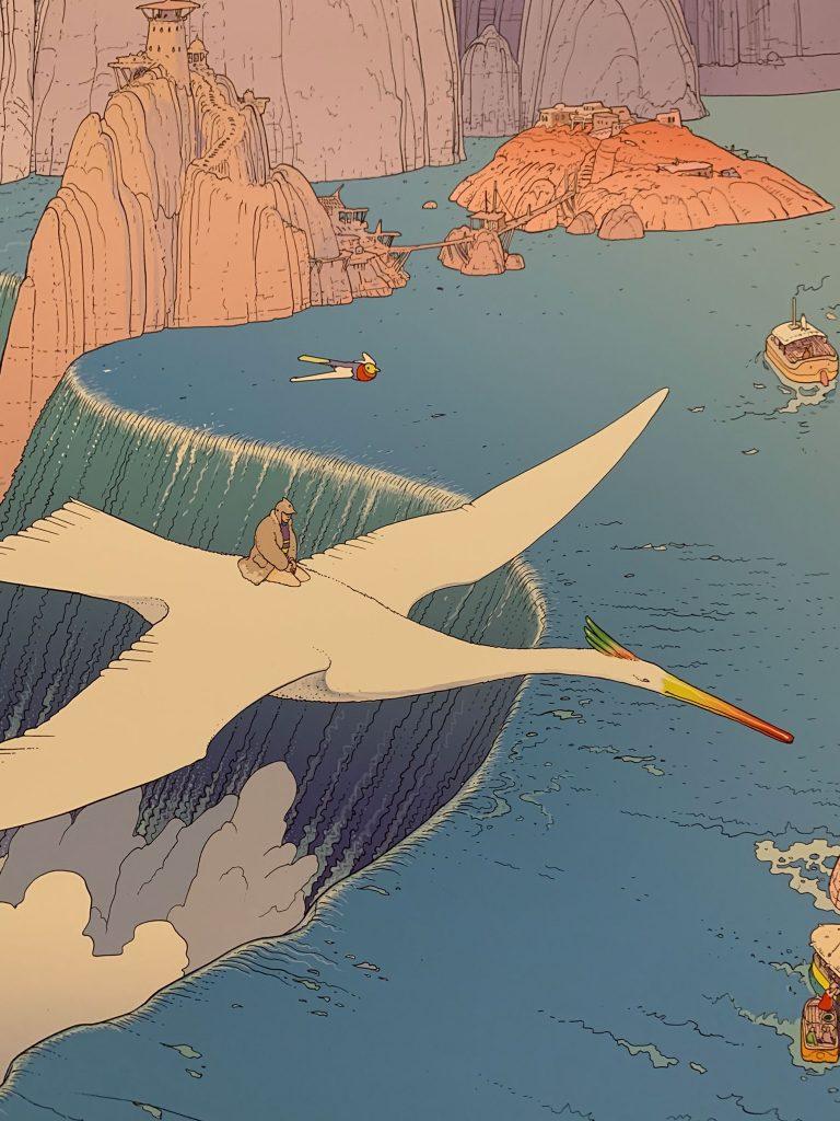 Bild von Moebisu, Vogel über Wasserfall